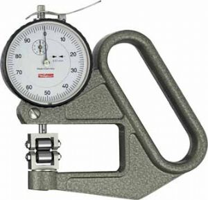 KAFER Dial Thickness Gauge J 50 R with Roller Contact Points WITH Side Discs - Reading: 0.01 mm